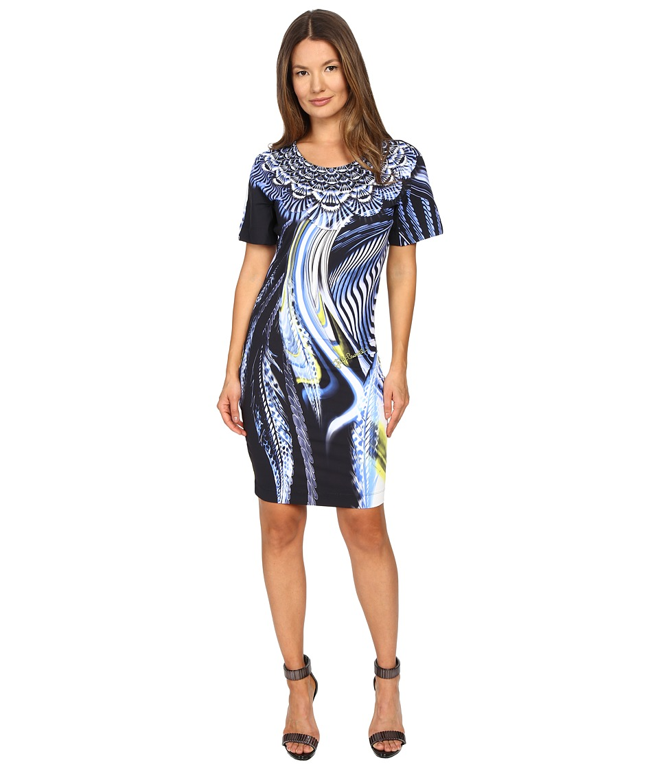 Just Cavalli - Leo Hurricane Bodycon Jersey Dress (Denim) Women's Dress