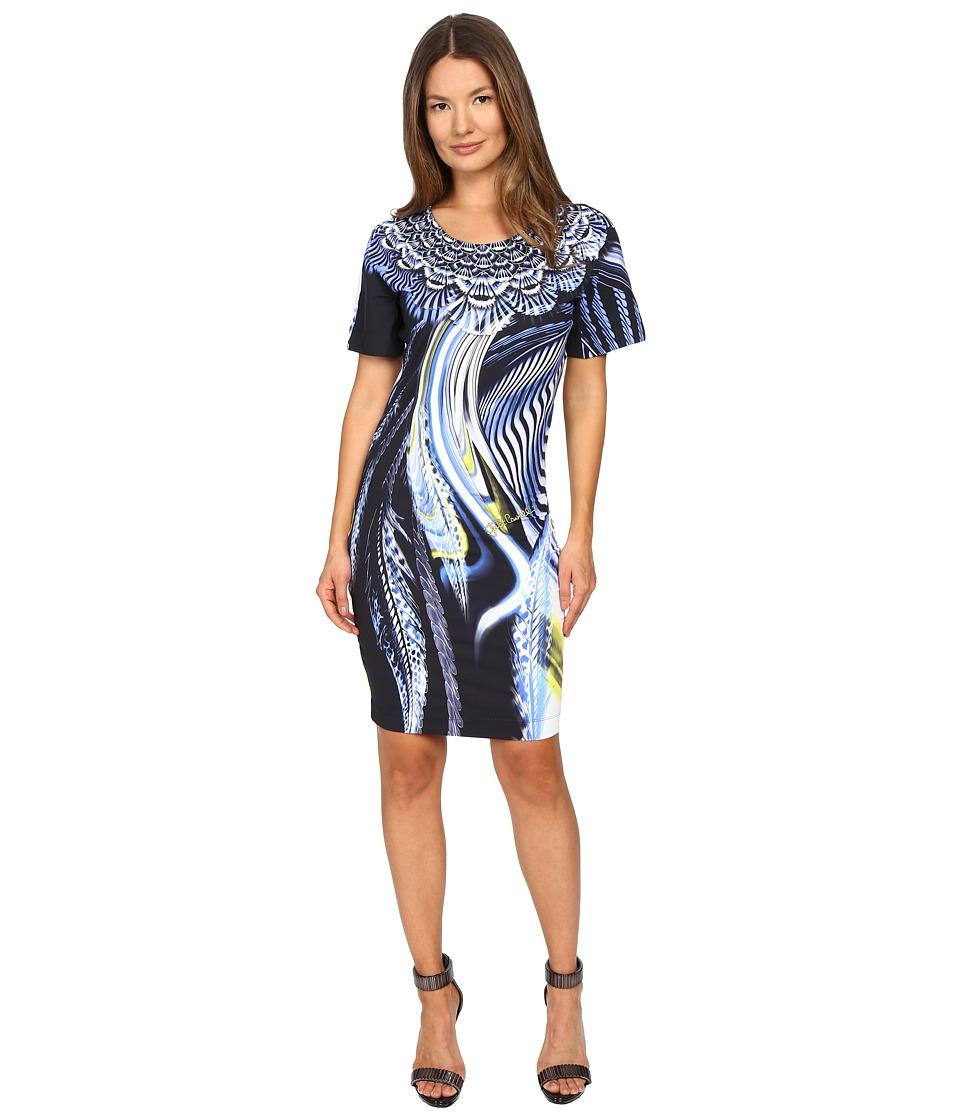 Just Cavalli - Leo Hurricane Bodycon Jersey Dress (Denim) Women's Dress