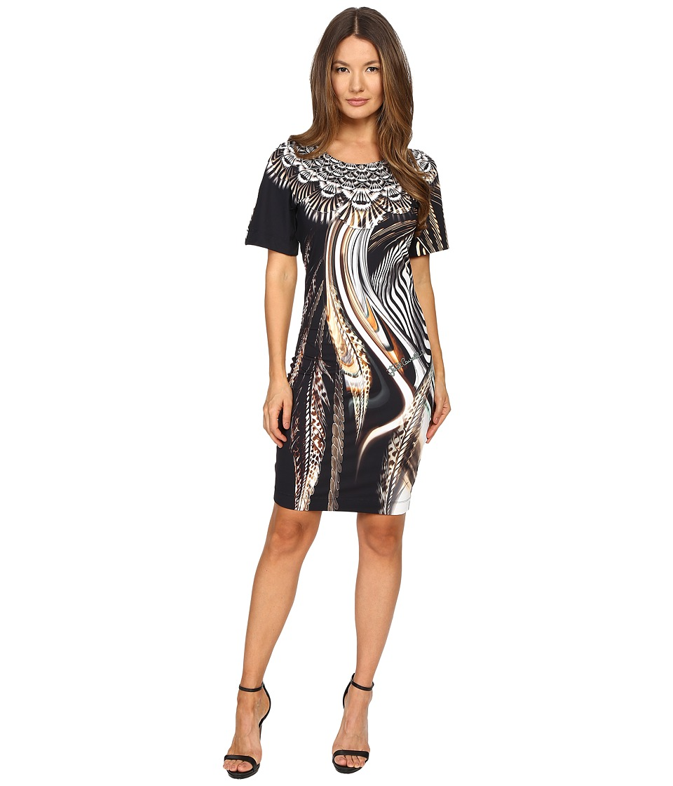 Just Cavalli - Leo Hurricane Bodycon Jersey Dress (Natural) Women's Dress