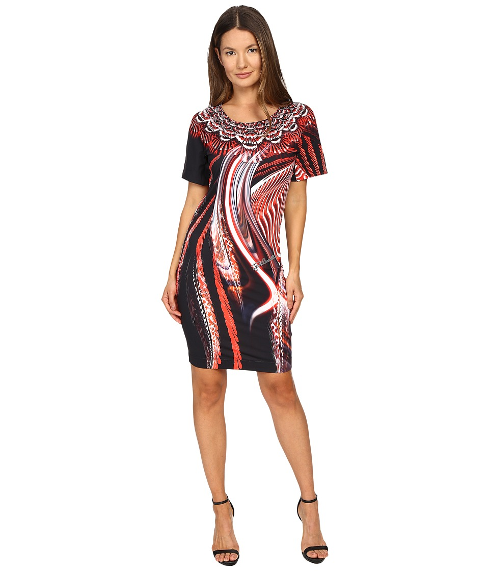 Just Cavalli - Leo Hurricane Bodycon Jersey Dress (Red) Women's Dress