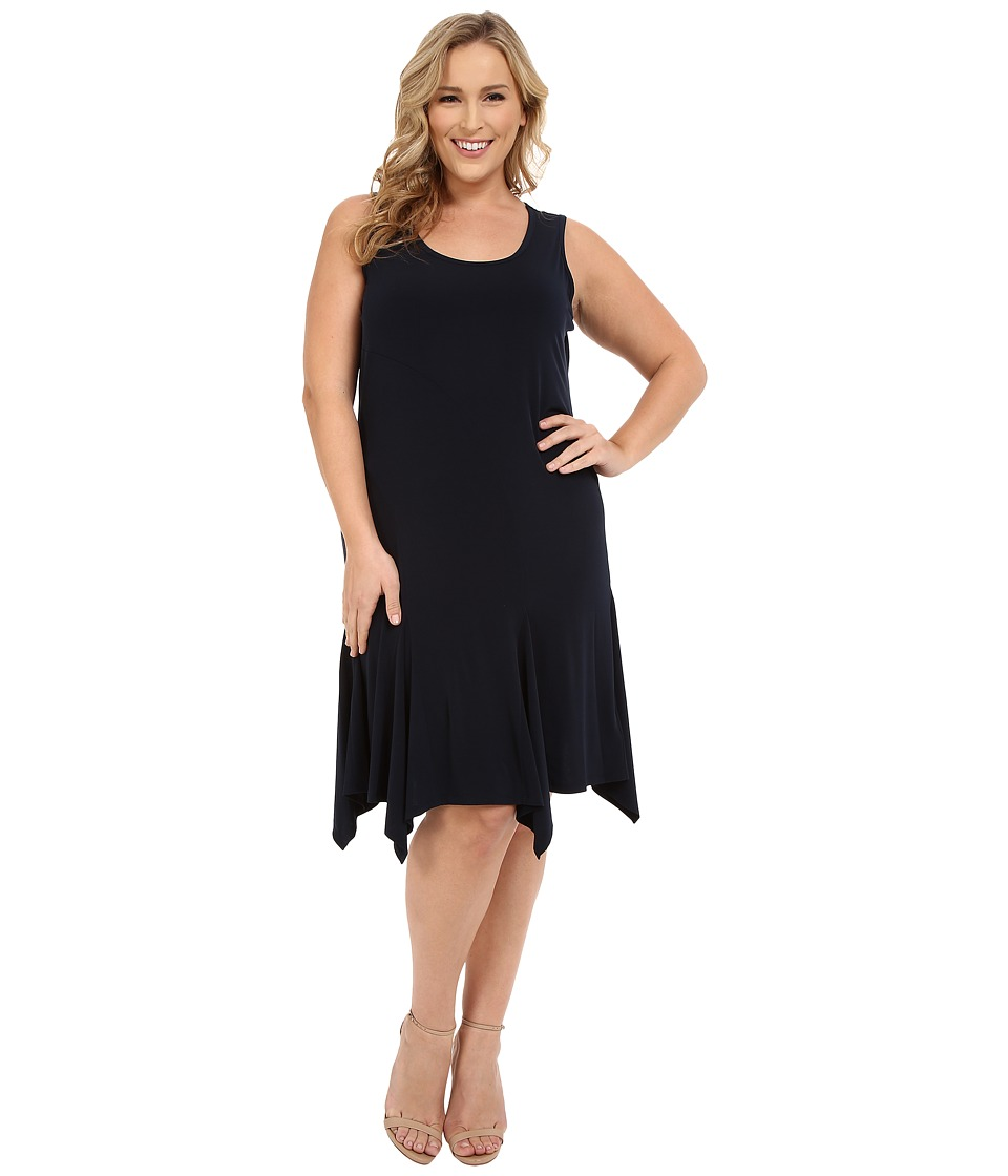 MICHAEL Michael Kors - Plus Size Curve Seam Tank Dress (New Navy) Women's Dress