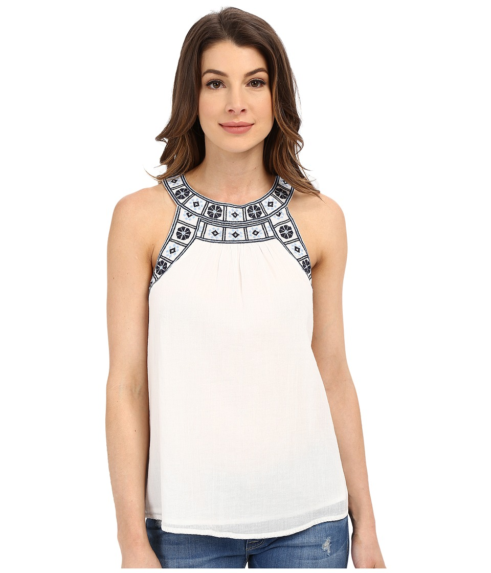 Joie - Helliconia Tank Top (Porcelain/Dark Navy) Women's Sleeveless