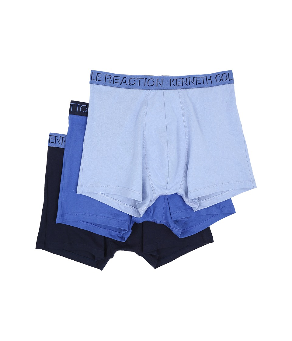 Kenneth Cole Reaction - 3-Pack Trunk (Blue Solid) Men's Underwear