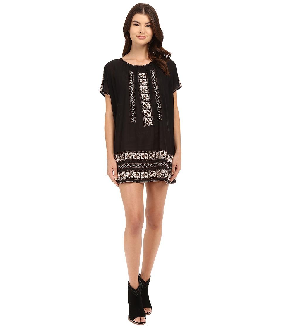Joie Diorite Dress (Caviar/Canyon Brown) Women