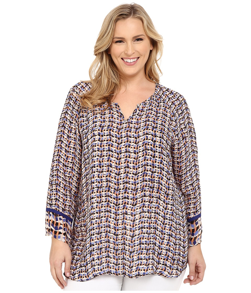 NIC+ZOE - Plus Size Tuning Top (Multi) Women's Blouse