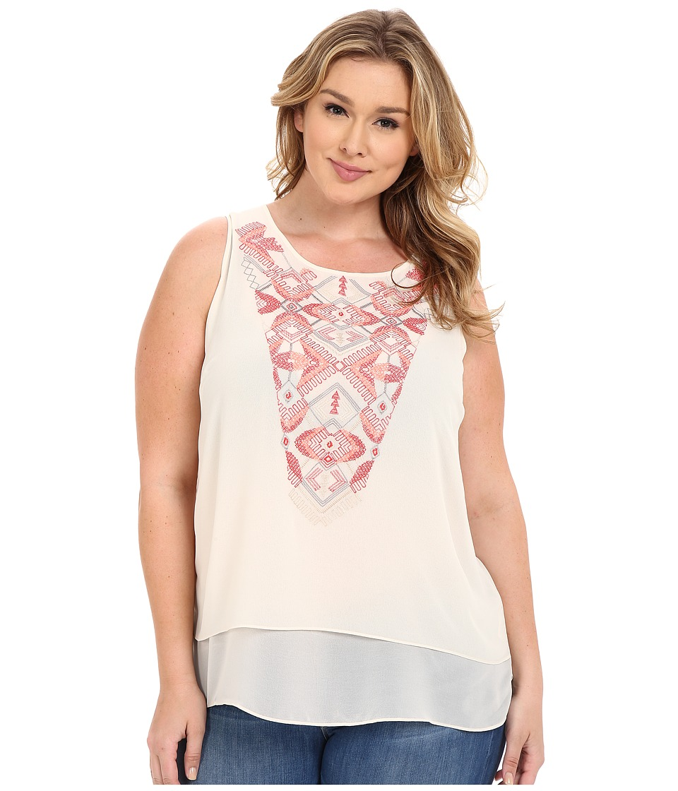 NIC+ZOE - Plus Size Penny Top (Sandshell) Women's Clothing
