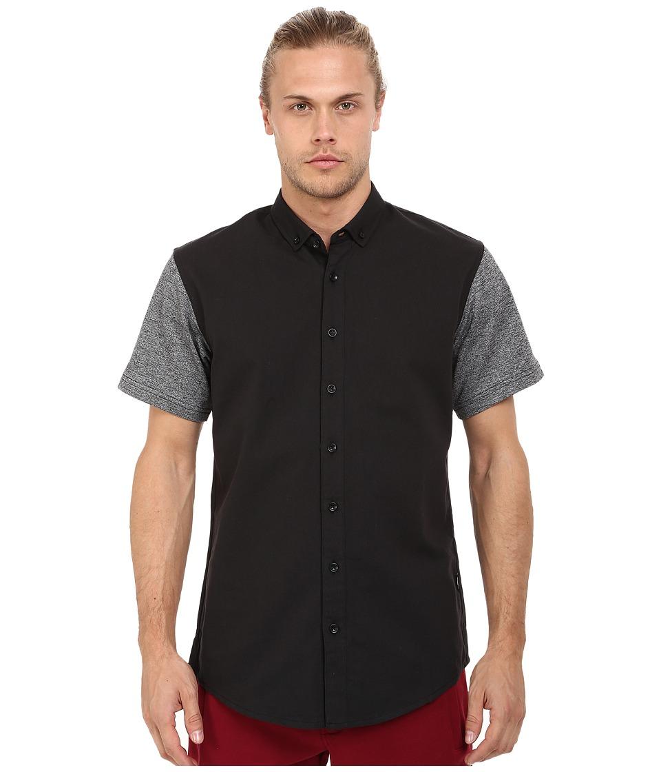 Publish - Hans - Premium Oxford Short Sleeve Button Up (Black) Men's Clothing