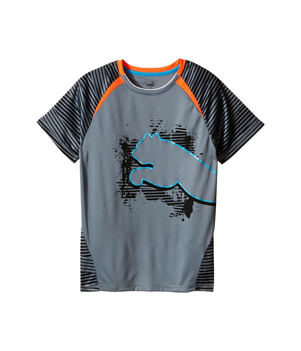 Puma Kids - Big Cat Tee (Big Kids) (PUMA Black) Boy's T Shirt