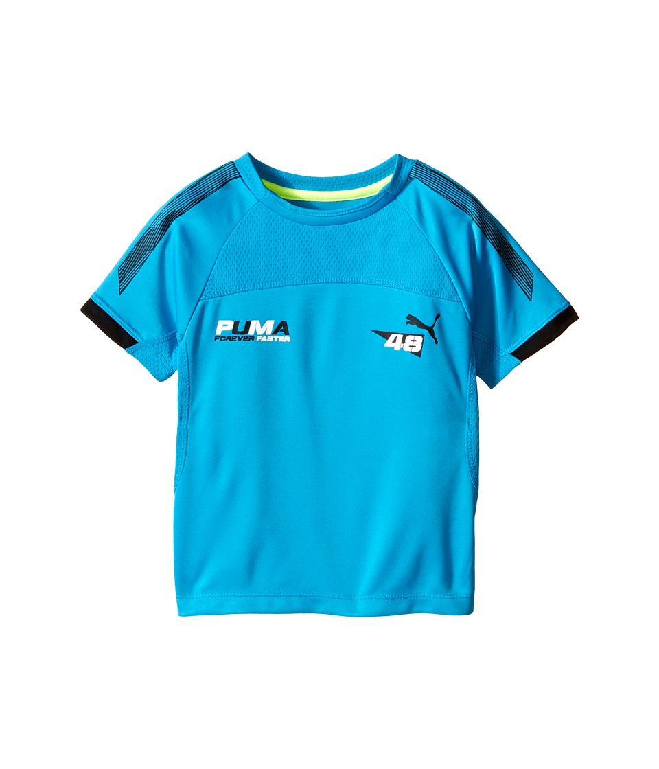 Puma Kids - Fabric Mix Tee (Little Kids) (Atomic Blue) Boy's T Shirt
