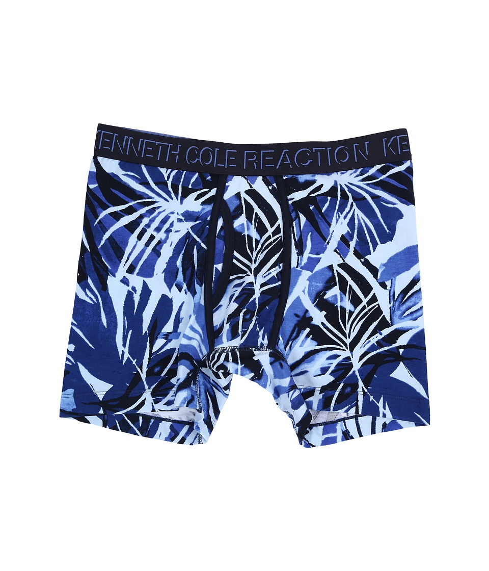 Kenneth Cole Reaction - Boxer Brief (Navy Tropical Leaves) Men's Underwear