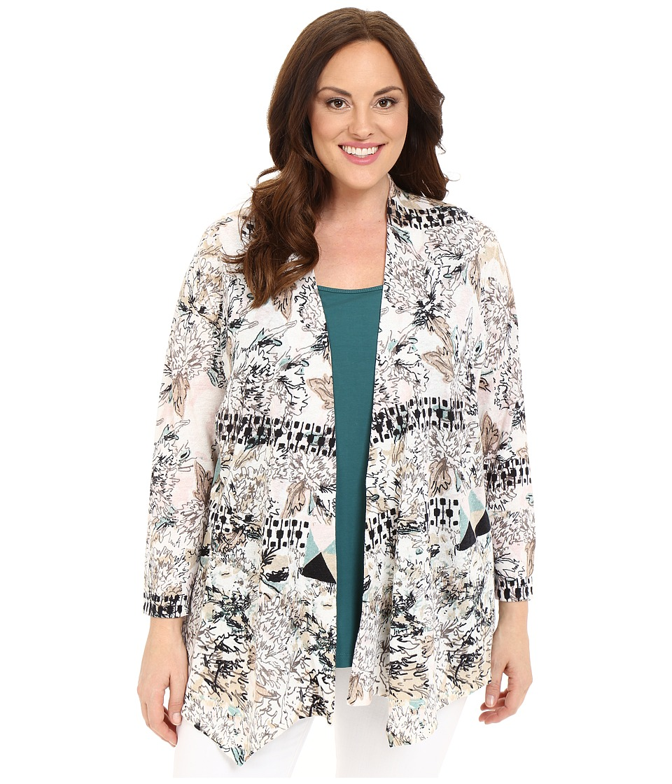 NIC+ZOE - Plus Size Lourve Cardy (Multi) Women's Sweater