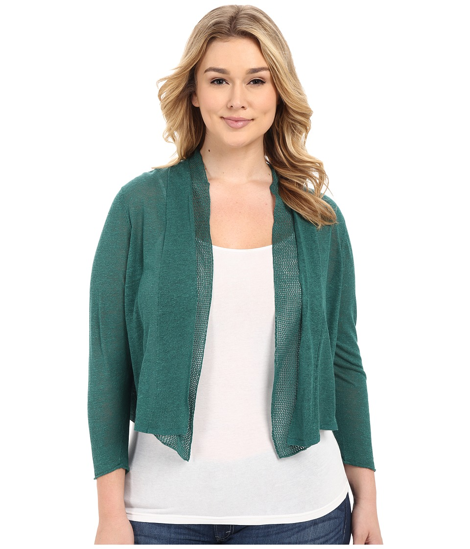 NIC+ZOE - Plus Size Simply Sweet Cardy (Bayberry) Women's Sweater
