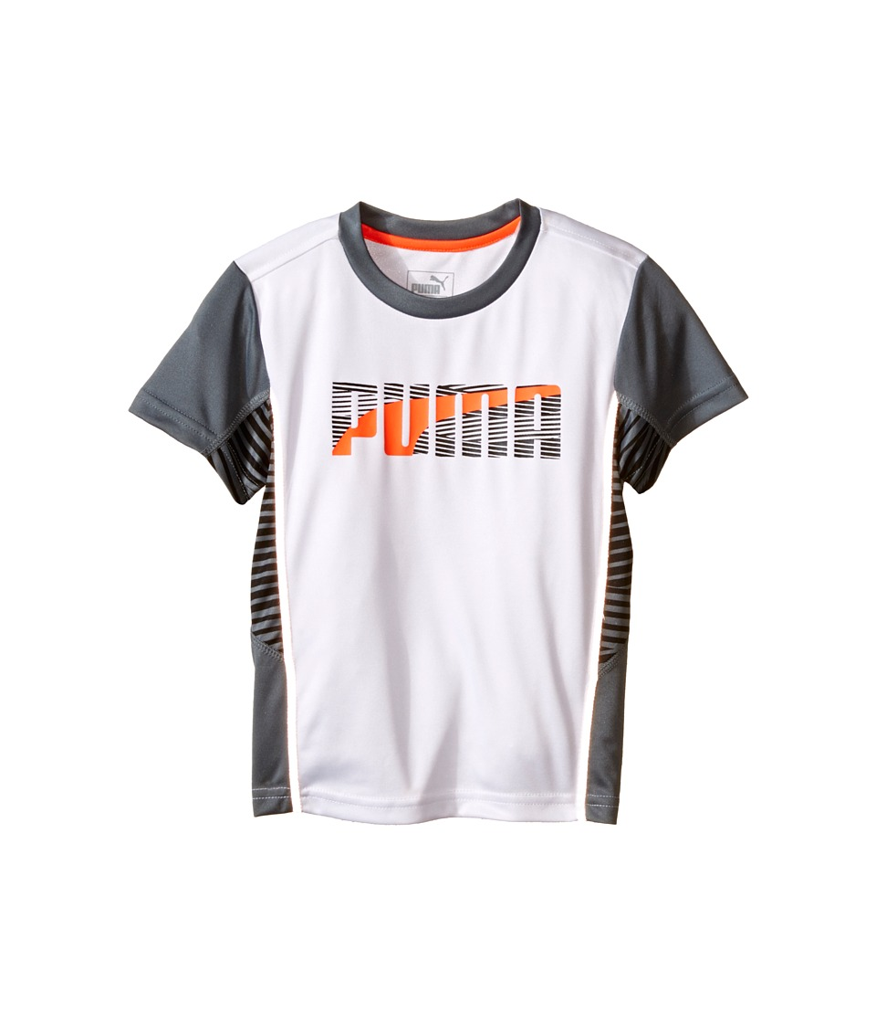 Puma Kids Print Mix PUMA Tee (Little Kids) (PUMA White) Boy