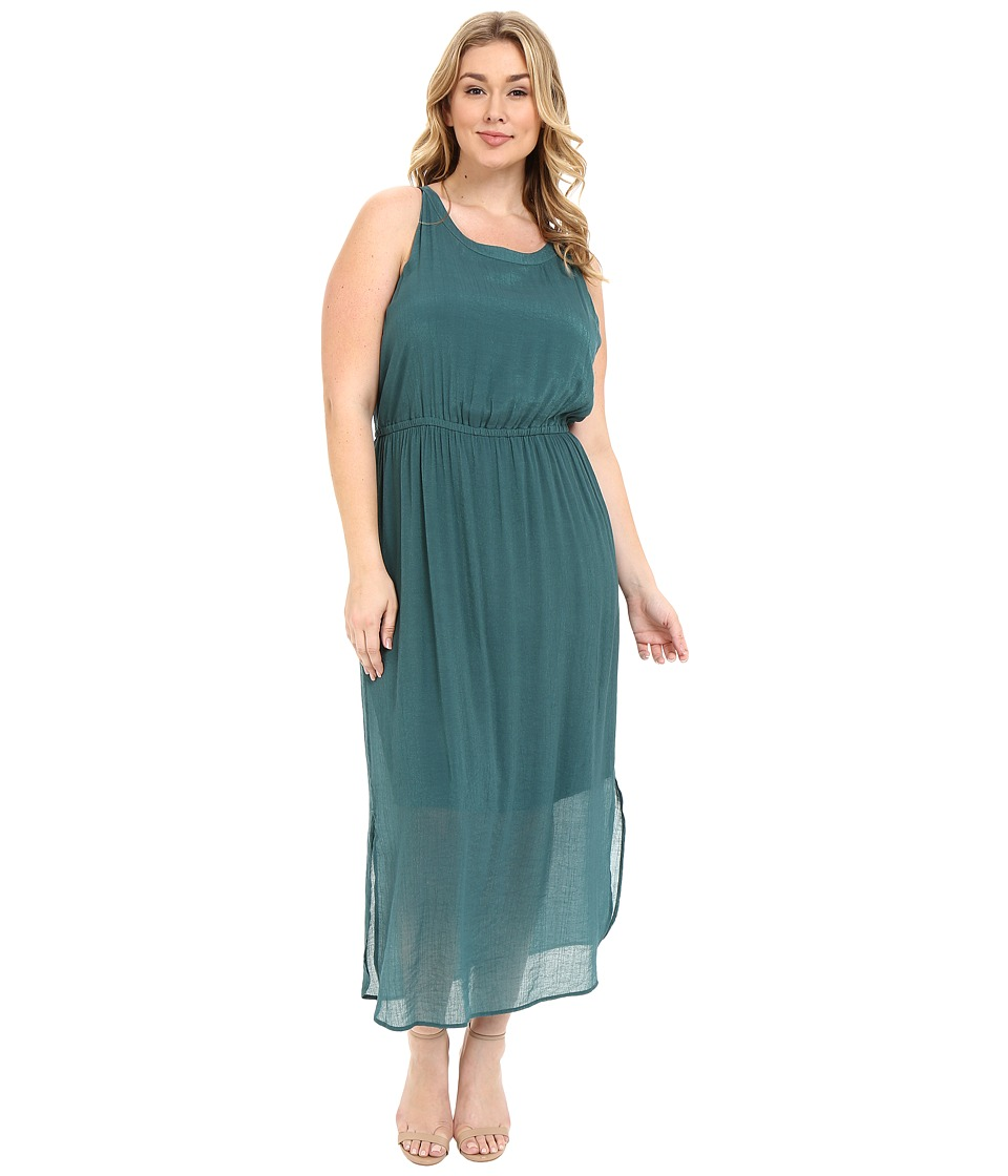 NIC+ZOE - Plus Size Emerald Burst Dress (Bayberry) Women's Dress