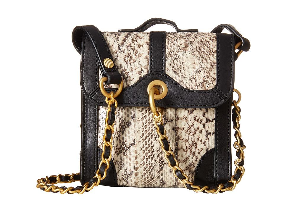 SJP by Sarah Jessica Parker - Grove Snake (Docu Snake Print/Noir Leather) Handbags