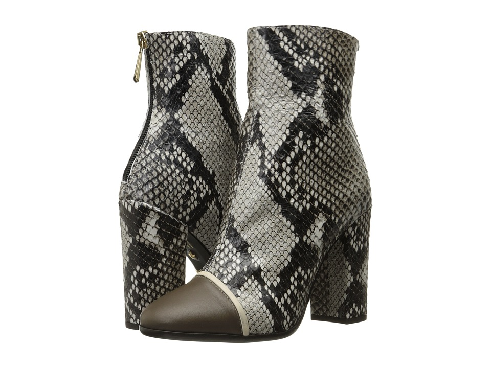 Just Cavalli - Python Printed High Heel Ankle Bootie (Caribou) Women's Boots