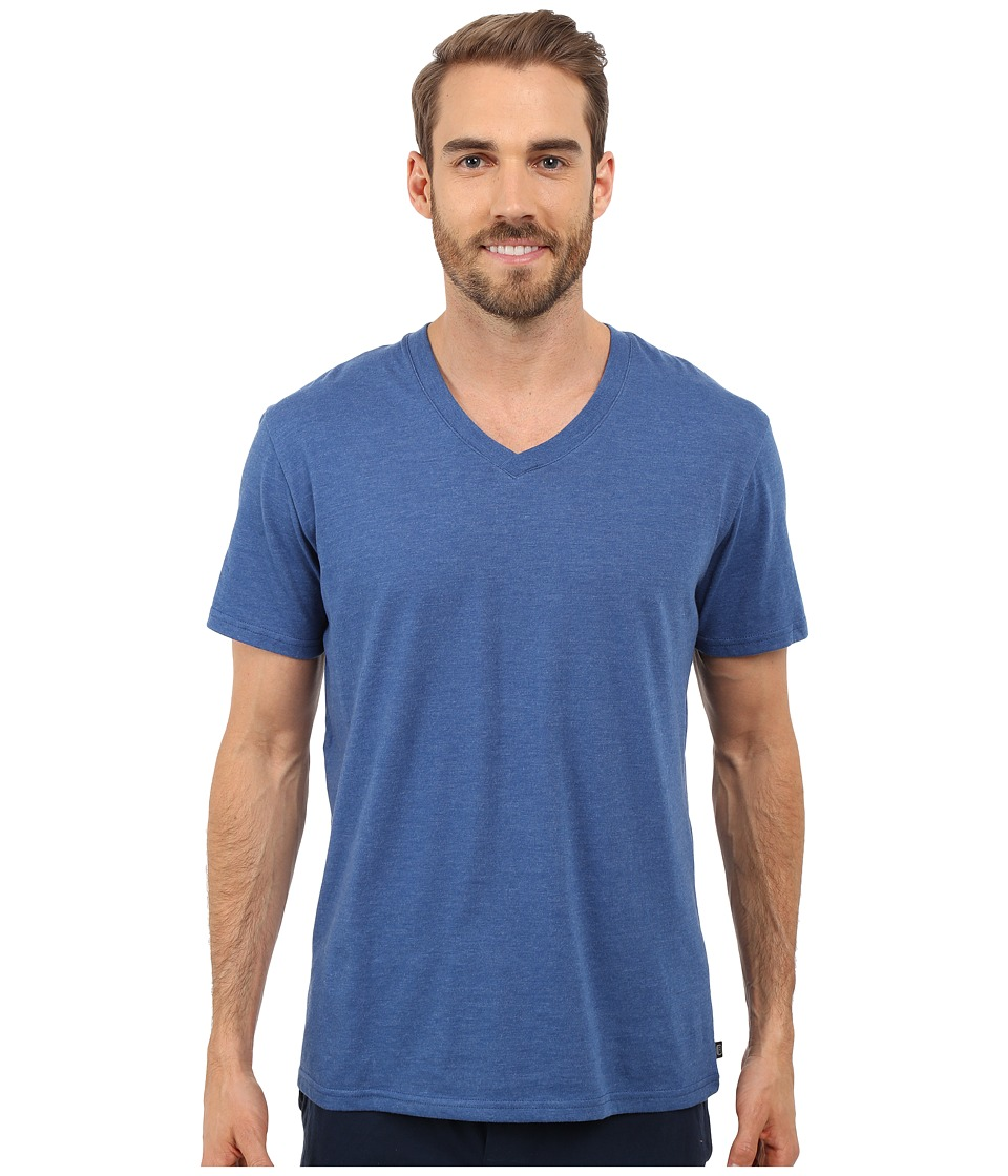 Kenneth Cole Reaction - Heather V-Neck Tee (Dark Blue) Men's T Shirt