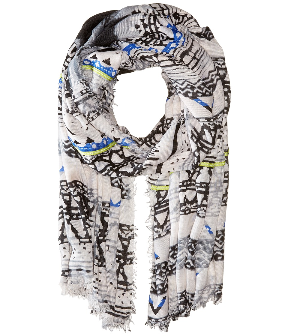Steve Madden - Tie-Dye Ethnic Day Wrap (Black) Scarves