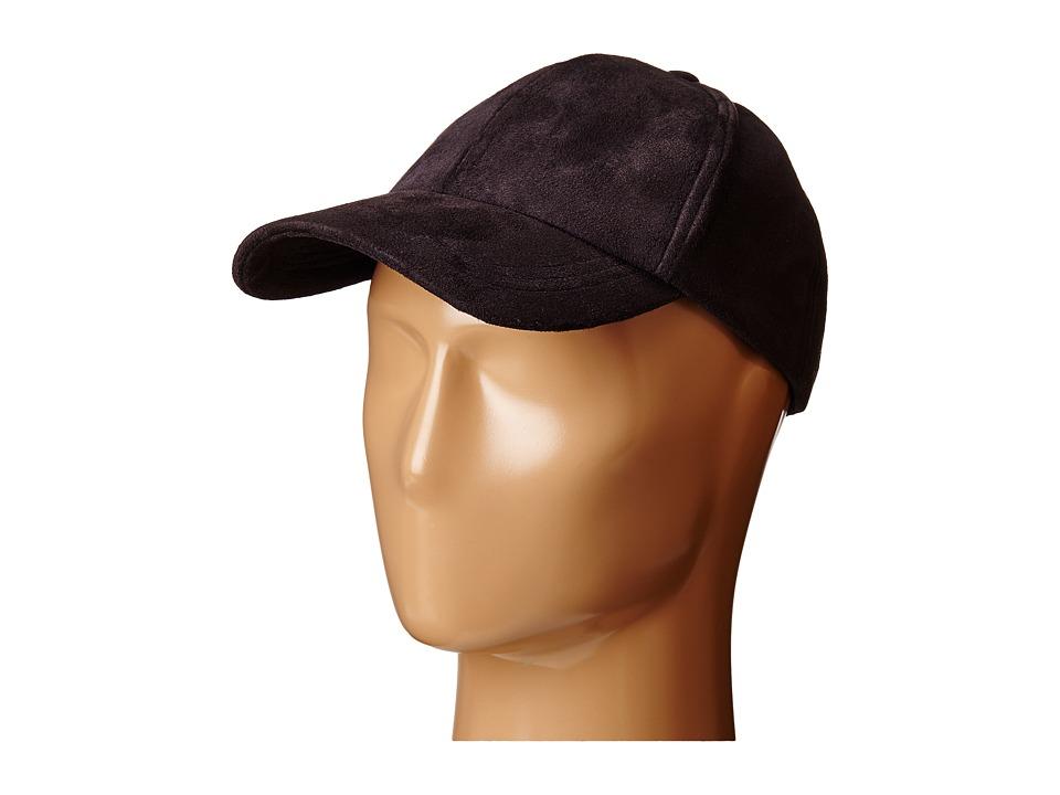 Steve Madden - Ultra Suede Baseball Cap (Black) Baseball Caps