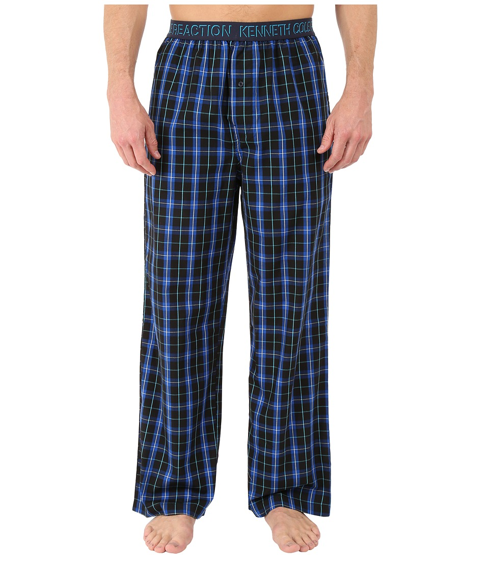 Kenneth Cole Reaction - Woven Pants (Blue Tompkins Plaid) Men's Pajama