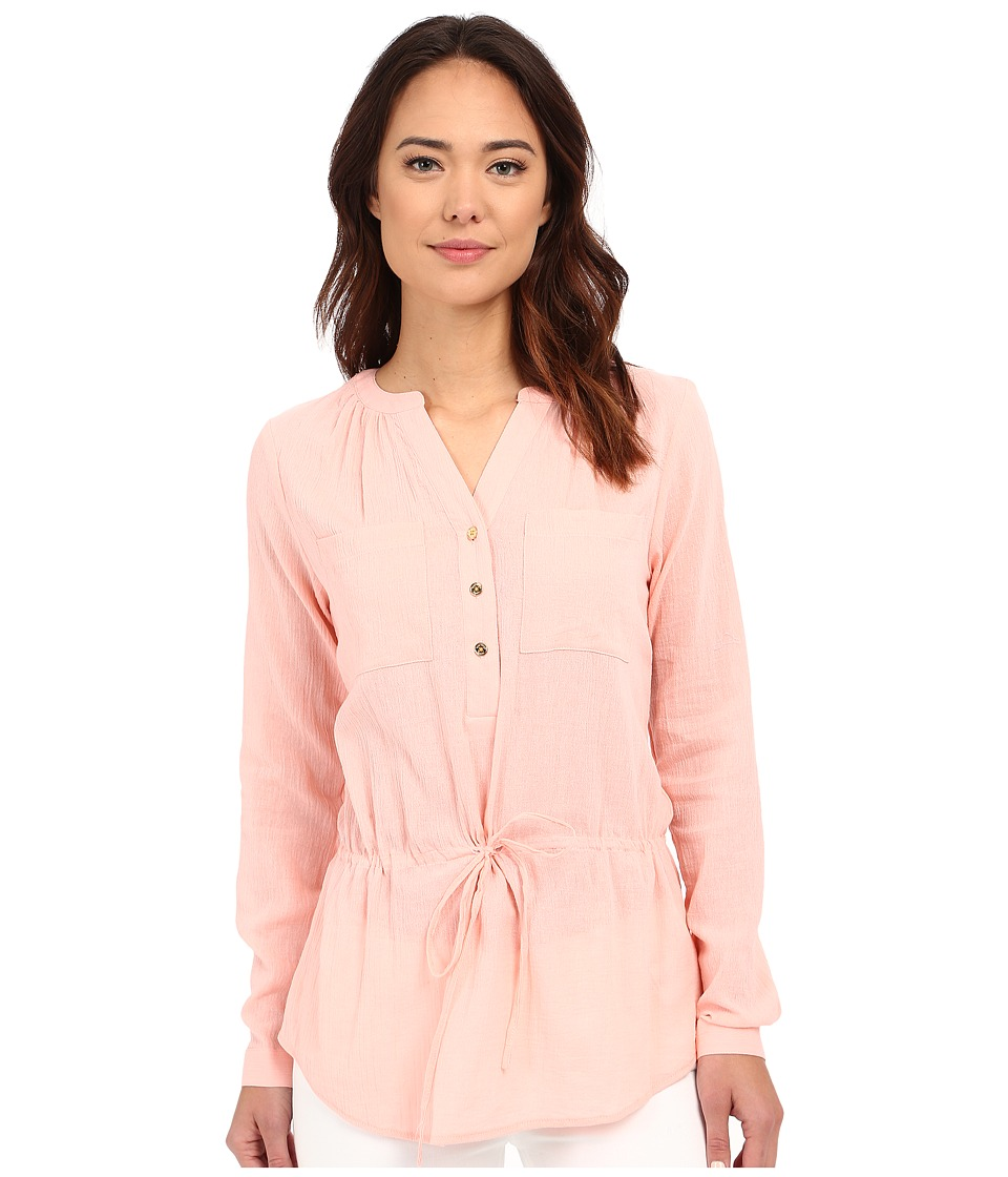 MICHAEL Michael Kors - Pocket Drawstring Top (Pale Caribbean Pink) Women's Blouse