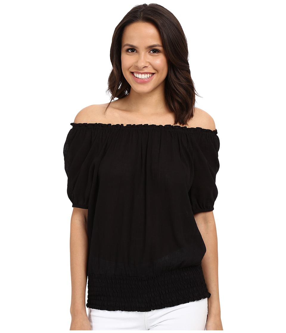MICHAEL Michael Kors - Off Shoulder Top (Black) Women's Blouse