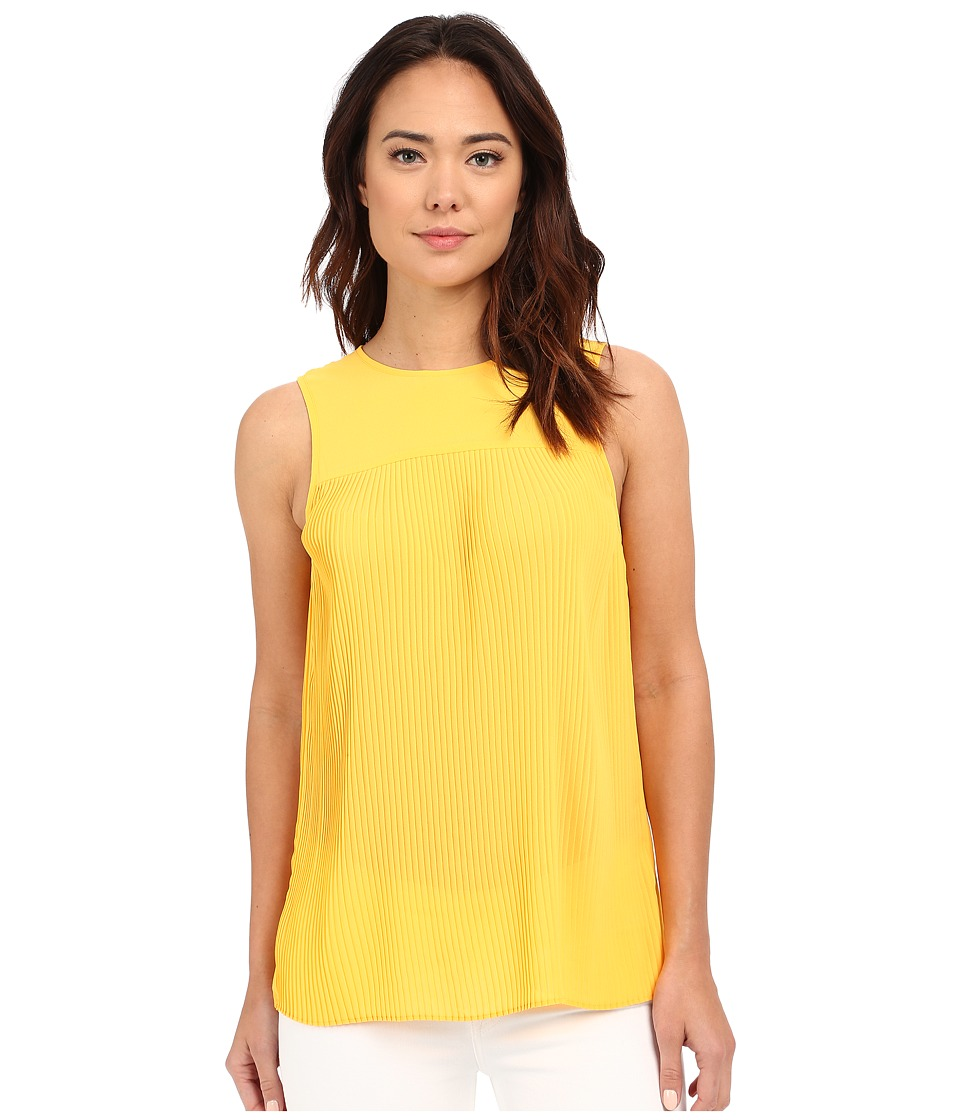 MICHAEL Michael Kors - Solid Pleated Top (Sunflower) Women's Clothing