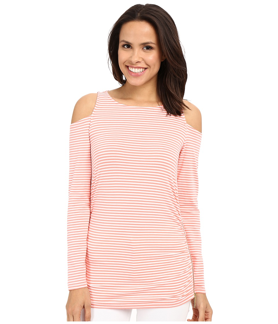 MICHAEL Michael Kors - Gardner Cold Shoulder Top (Caribbean Pink) Women's T Shirt