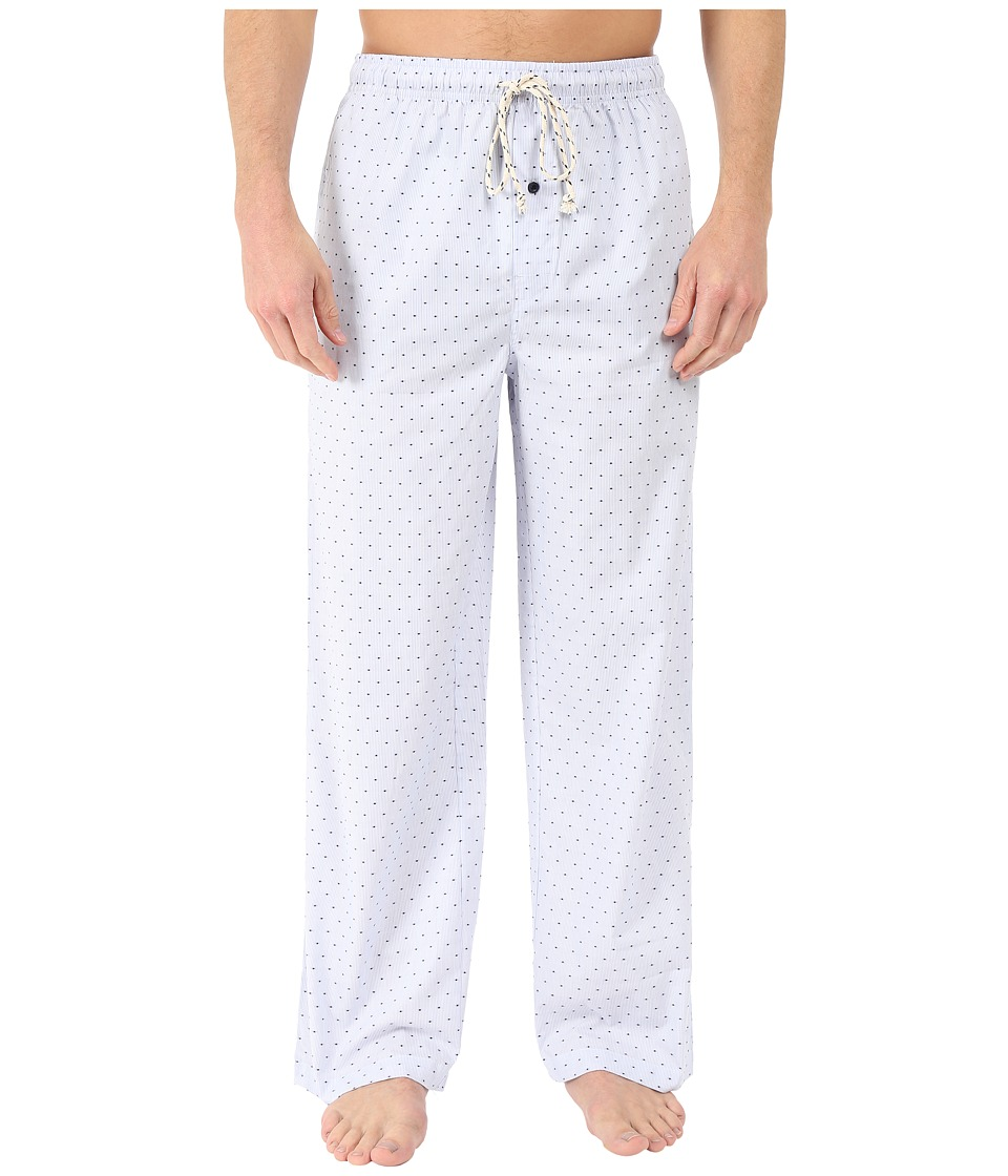 Kenneth Cole Reaction - Woven Pants (Berry Blue Pinstripe Dot) Men's Pajama