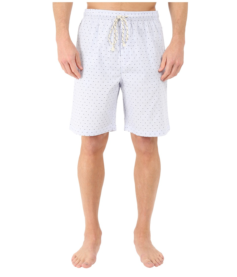 Kenneth Cole Reaction - Woven Jam (Berry Blue Pinstripe Dot) Men's Pajama
