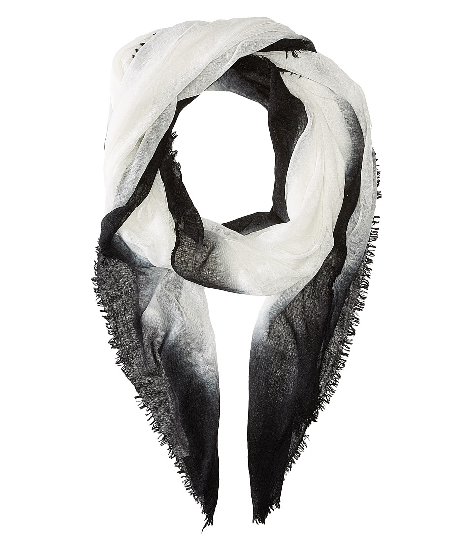 Steve Madden - Ombre Edge Wrap (Black) Scarves
