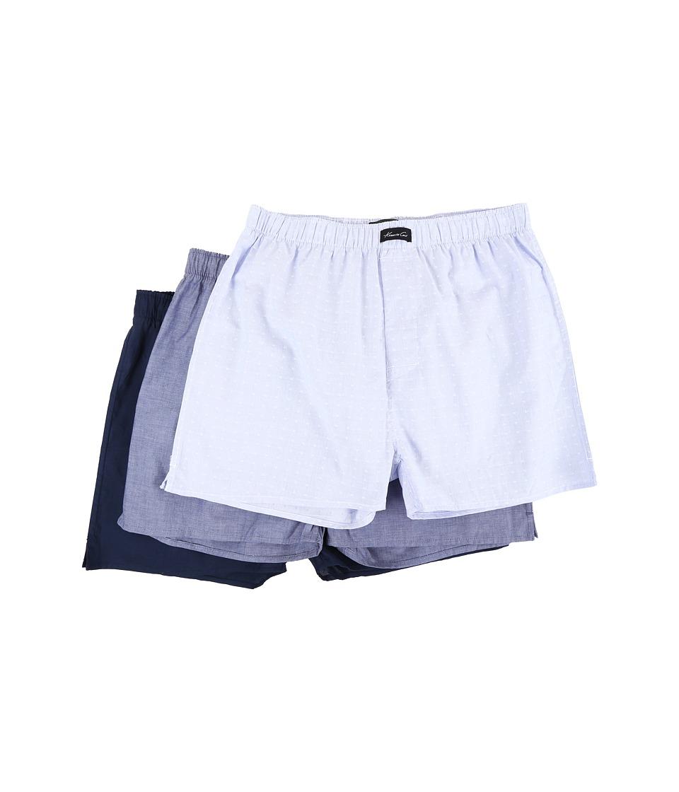 Kenneth Cole Reaction - 3-Pack Woven Boxers (Denim Combo) Men's Underwear