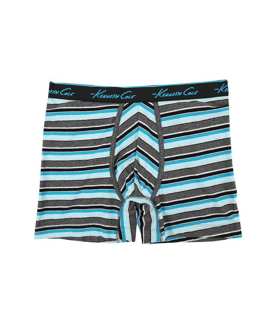 Kenneth Cole Reaction - Boxer Brief (Aqua Spring Stripe) Men's Underwear