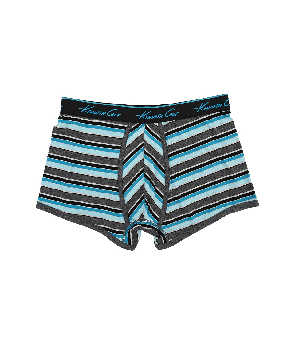Kenneth Cole Reaction - Trunk (Aqua Spring Stripe) Men's Underwear