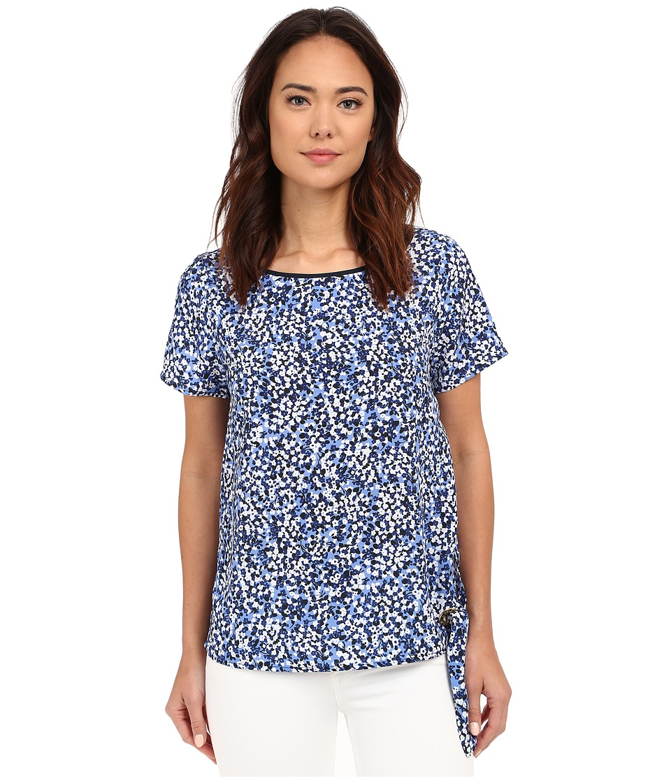 MICHAEL Michael Kors - Chiltington Tie Top (Crew Blue) Women's Blouse