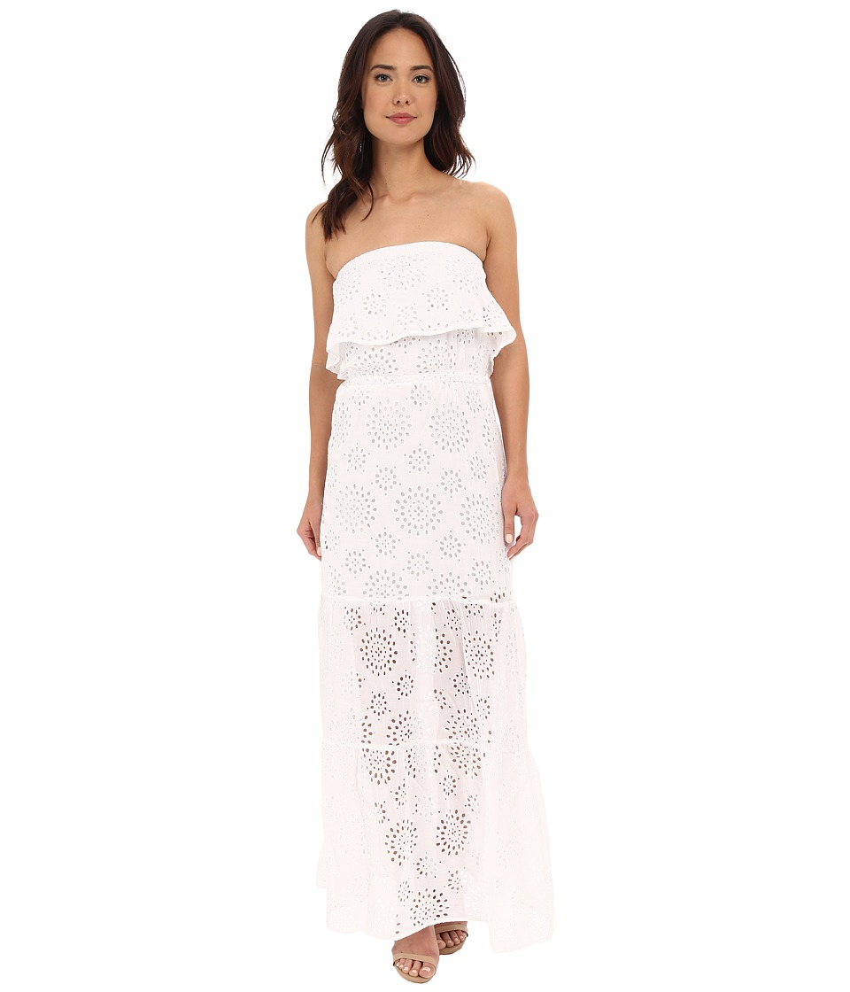 MICHAEL Michael Kors - Eyelet Tiered Maxi (White) Women's Clothing