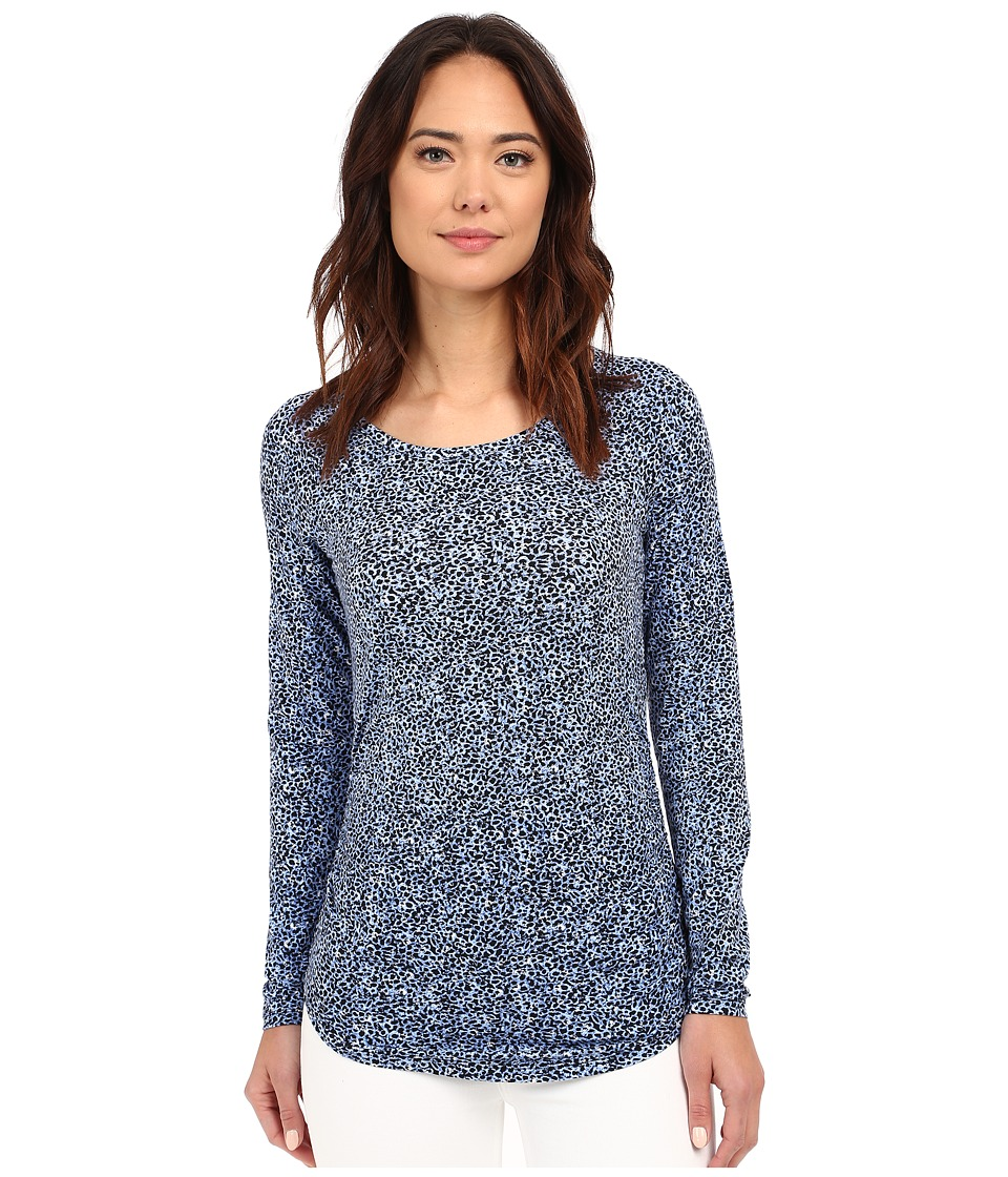 MICHAEL Michael Kors - Swanmore Shirred Tee (Crew Blue) Women