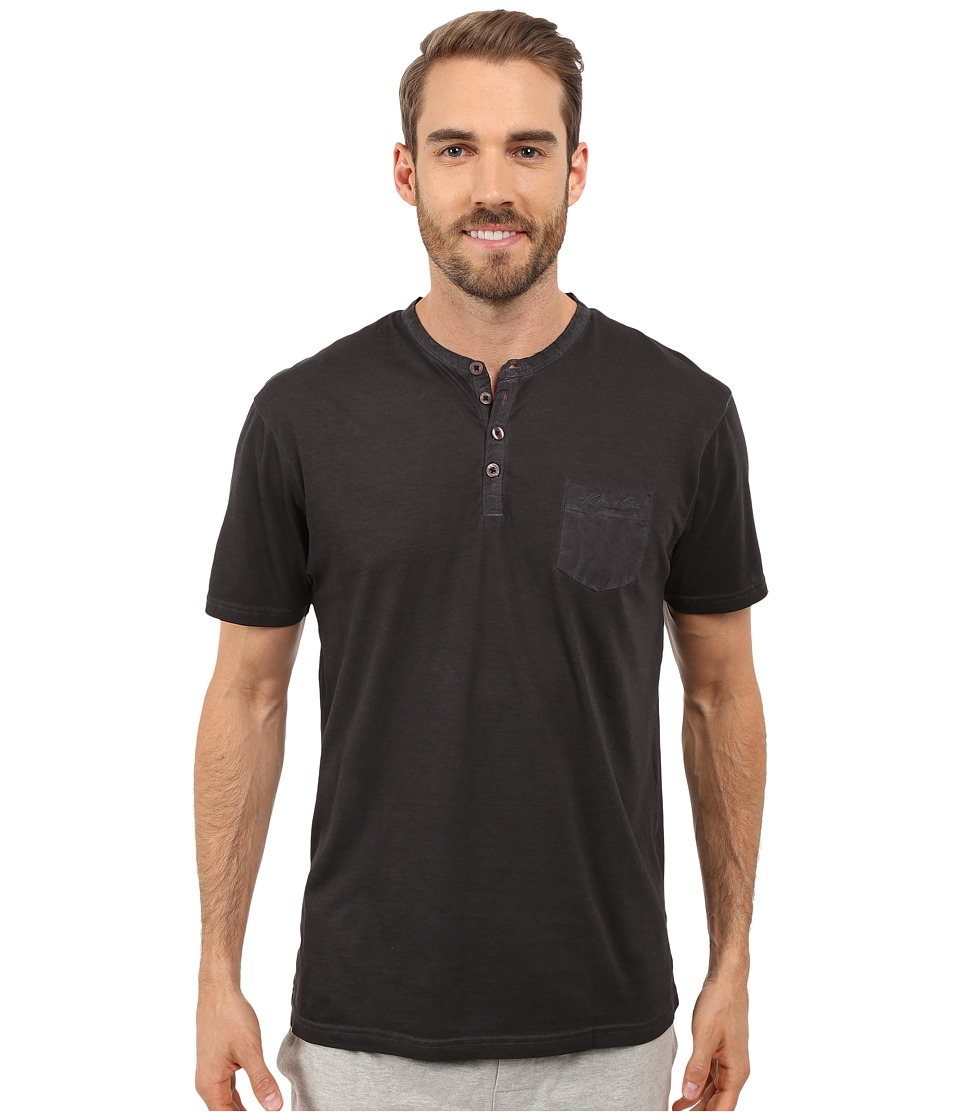Kenneth Cole Reaction - Henley Neck T-Shirt (Black) Men's T Shirt