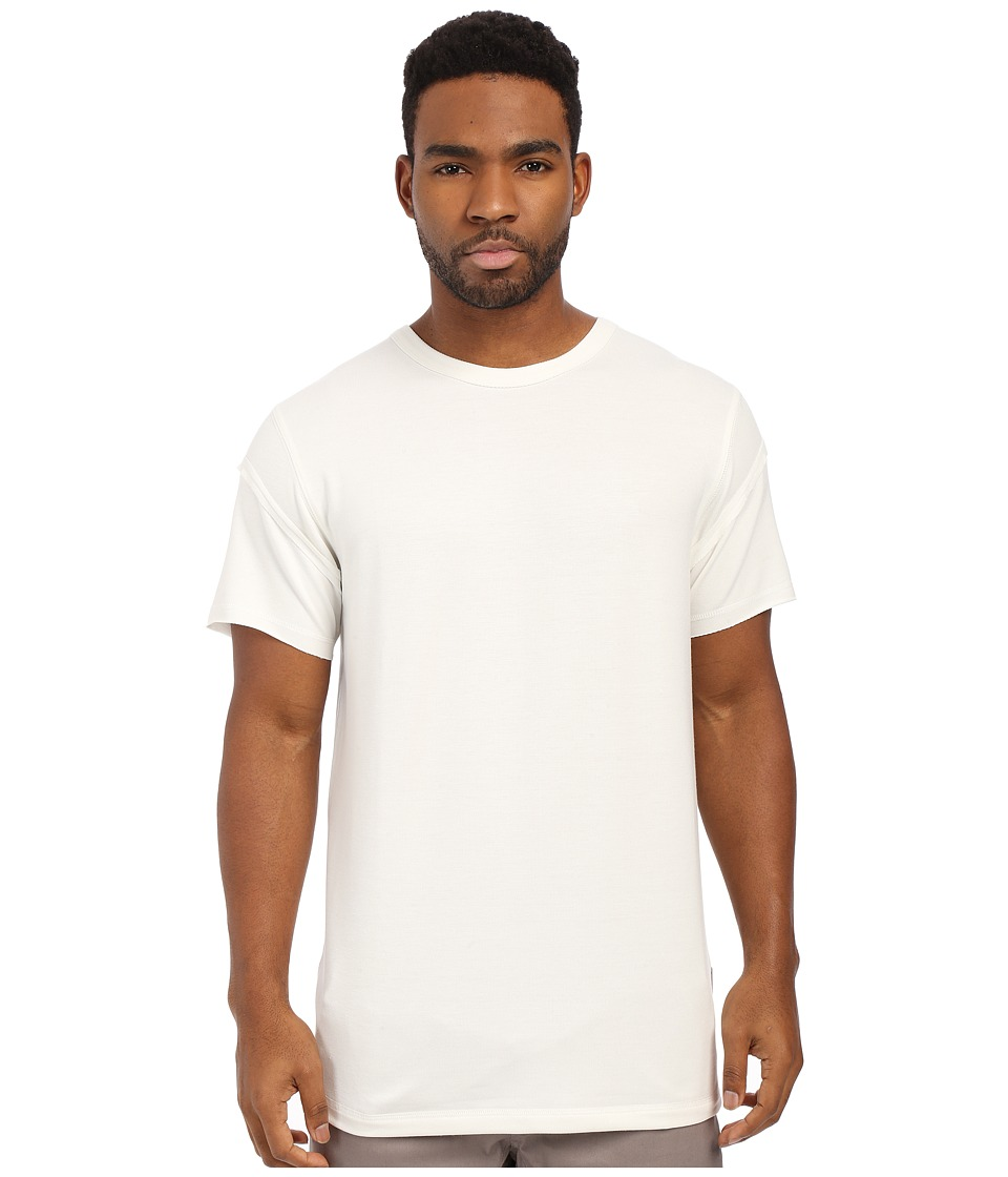Publish - Kenjo - Premium Terry Knit Flat Bottom Tee (White) Men's T Shirt