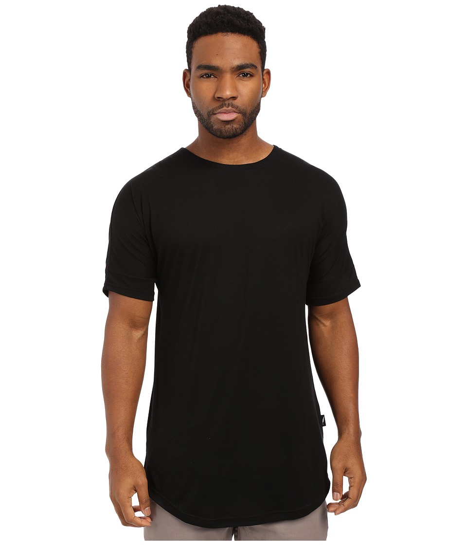 Publish - Ugo - Premium Knit Seamless Scallop Bottom Tee (Black) Men's T Shirt