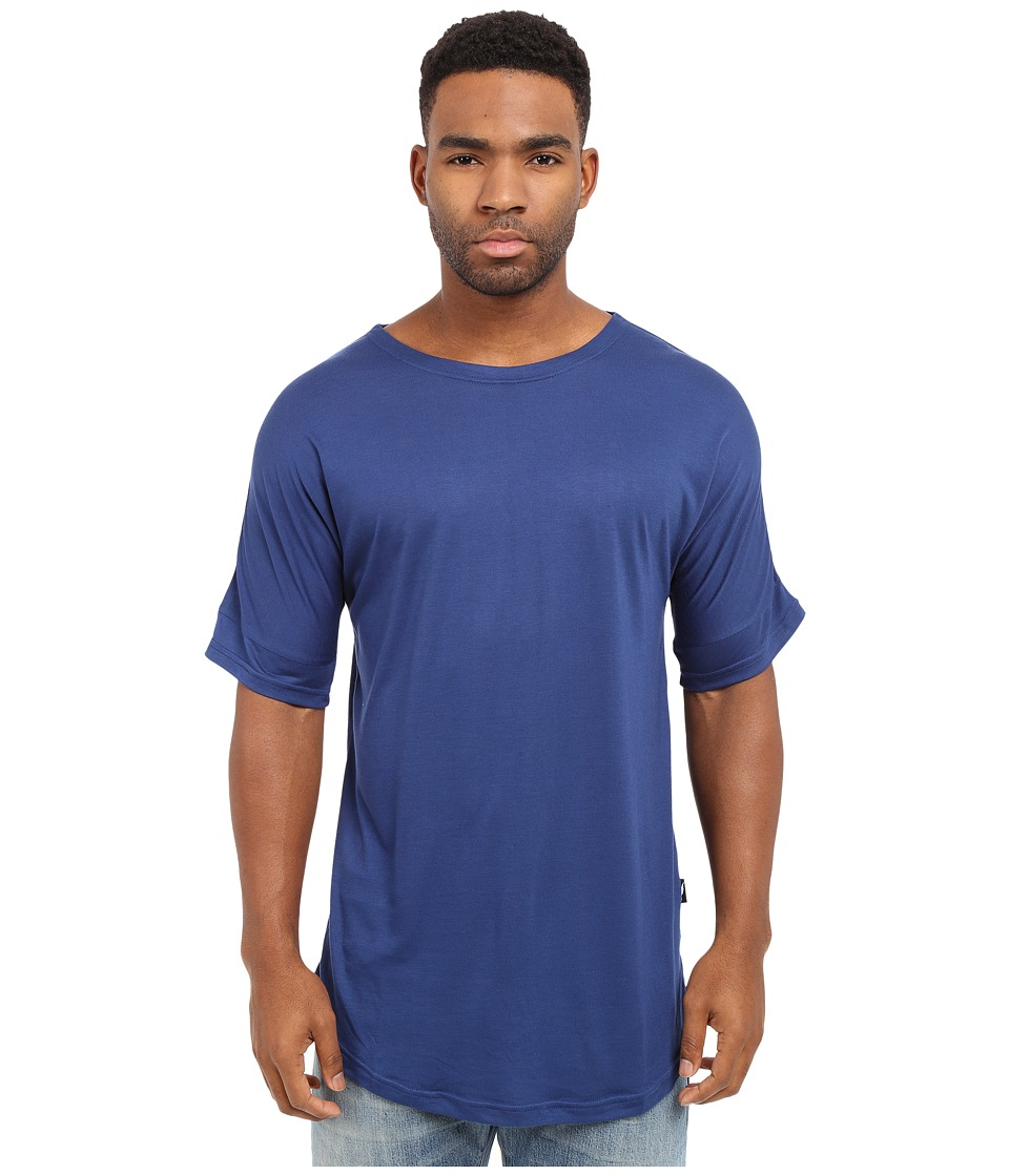 Publish - Ugo - Premium Knit Seamless Scallop Bottom Tee (Navy) Men's T Shirt