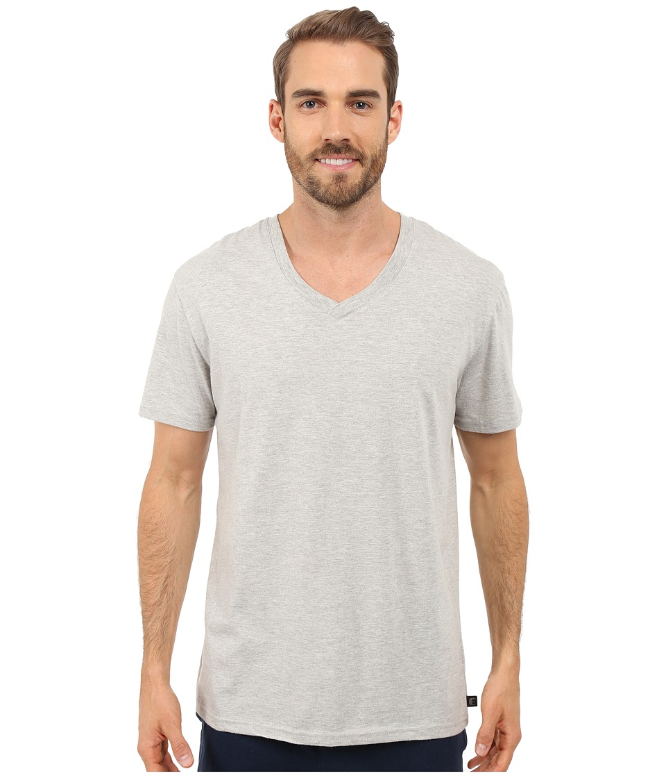 Kenneth Cole Reaction - Heather V-Neck Tee (Light Grey Heather) Men's T Shirt