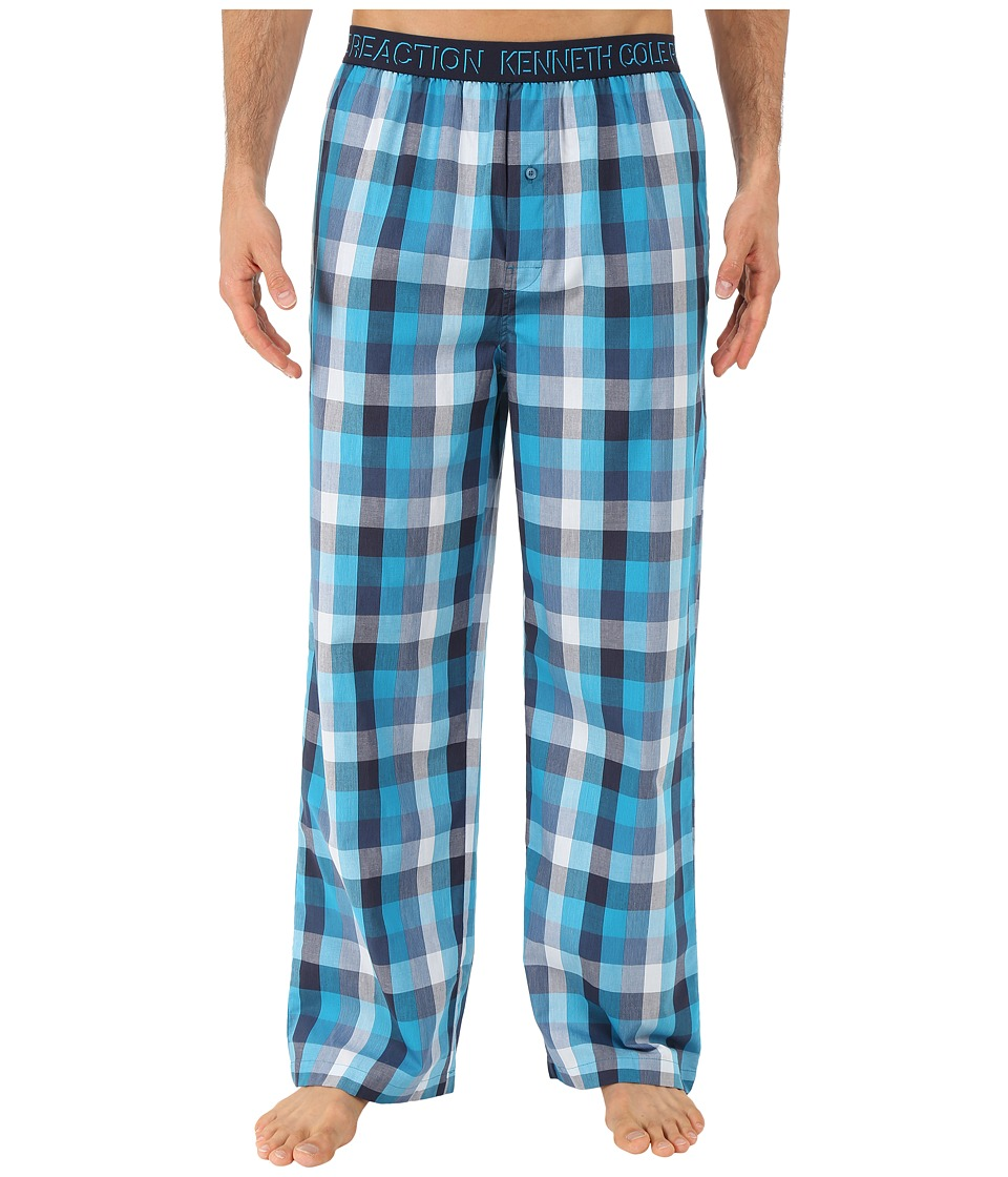 Kenneth Cole Reaction - Woven Pants (Marina Plaid) Men's Pajama