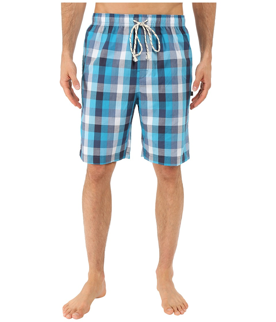 Kenneth Cole Reaction - Woven Jam (Aqua Marina Plaid) Men's Pajama