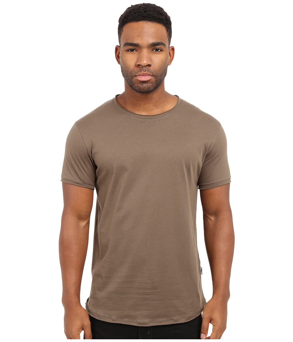 Publish - Sato - Premium Lightweight Cotton Knit Tee with Raw Split Edges (Olive) Men's T Shirt