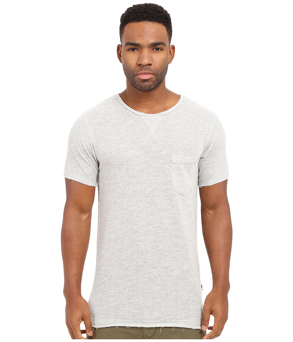 Publish - Janek - Heathered Terry Short Sleeve Tee Elongated with Side Split Hem (Heather) Men's T Shirt