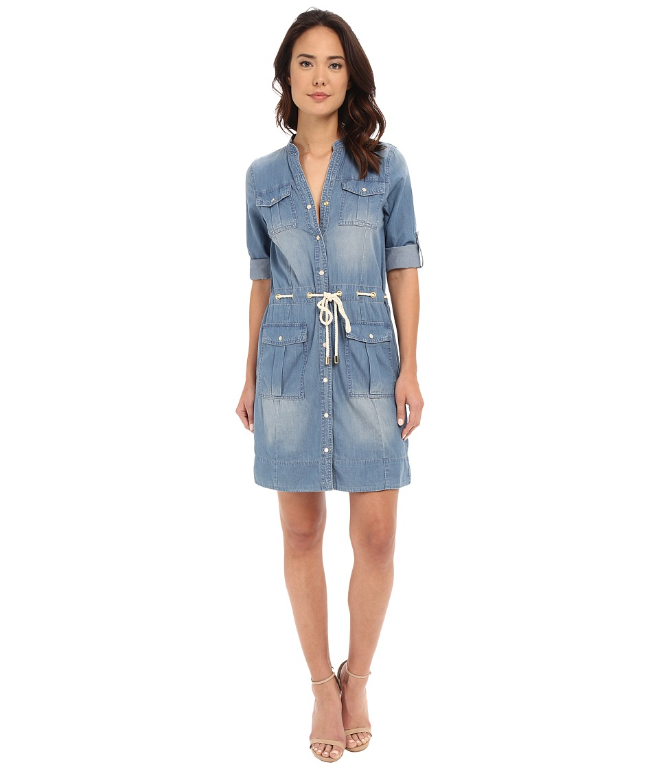 MICHAEL Michael Kors - Denim Dress (Light Cadet Wash) Women's Dress