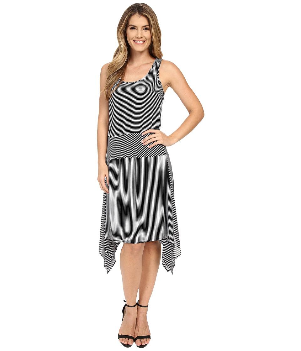MICHAEL Michael Kors - Voyage Stripe Tank Dress (Black) Women's Dress