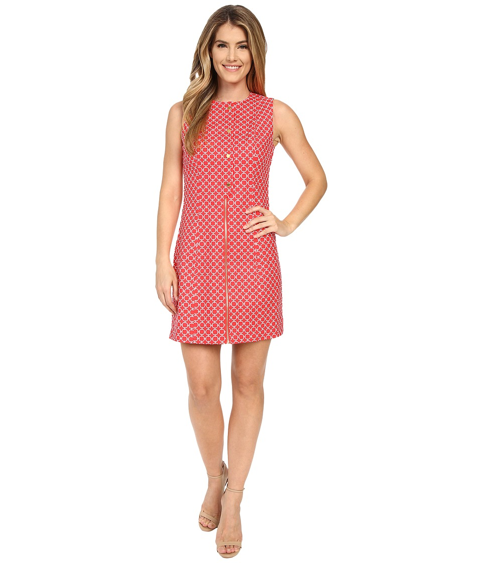MICHAEL Michael Kors - Placket Detail Dress (Coral Reef) Women's Dress