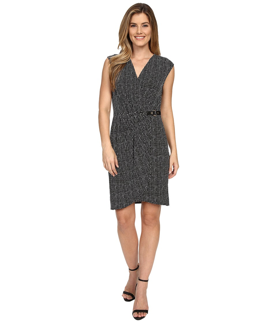 MICHAEL Michael Kors - Nezla Faux Wrap Dress (Black) Women's Dress